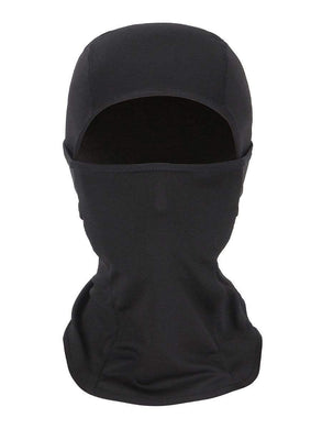 Color=Black | Warm Light Weight Riding Headwear Balaclava Protective Face Hat-Black 1