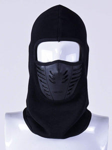 Color=Black | Adults' Outdoor Full Face Protective Balaclava Face Hat-Black 1