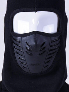 Color=Black | Adults' Outdoor Full Face Protective Balaclava Face Hat-Black 4