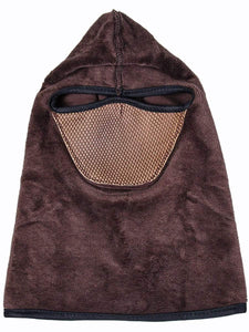 Color=Coffee | Adults' Outdoor Full Face Protective Balaclava Face Hat-Coffee 2