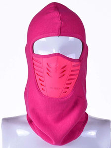 Color=Coral | Adults' Outdoor Full Face Protective Balaclava Face Hat-Coral 1