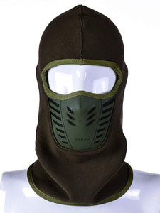 Color=Dark Green | Adults' Outdoor Full Face Protective Balaclava Face Hat-Dark Green 1