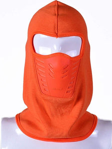 Color=Orange | Adults' Outdoor Full Face Protective Balaclava Face Hat-Orange 1