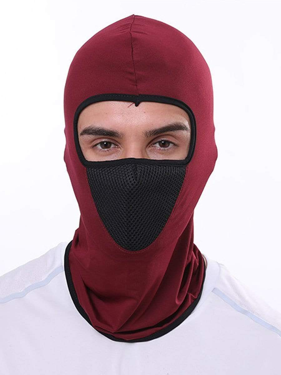 Color=Burgundy | Multifunctional Breathable Protective Full Face Hat-Burgundy 1