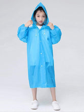 Load image into Gallery viewer, Color=Sky Blue | Portable Reusable Emergency Fashion Waterproof Raincoat For Kids-Sky Blue 2