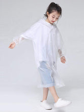 Load image into Gallery viewer, Color=White | Portable Reusable Emergency Fashion Waterproof Raincoat For Kids-White 2