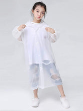 Load image into Gallery viewer, Color=White | Portable Reusable Emergency Fashion Waterproof Raincoat For Kids-White 1