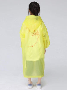 Color=Yellow | Portable Reusable Emergency Fashion Waterproof Raincoat For Kids-Yellow 2