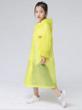 Load image into Gallery viewer, Color=Yellow | Portable Reusable Emergency Fashion Waterproof Raincoat For Kids-Yellow 3
