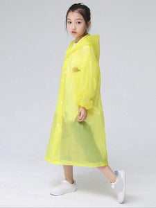 Color=Yellow | Portable Reusable Emergency Fashion Waterproof Raincoat For Kids-Yellow 3