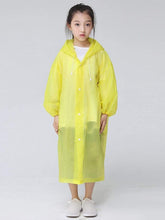 Load image into Gallery viewer, Color=Yellow | Portable Reusable Emergency Fashion Waterproof Raincoat For Kids-Yellow 1