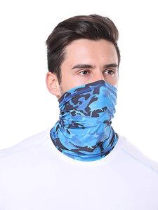 Color=Dusty Navy | Comfort Adult Protective Neck Gaiter Running Face Shield For Going Out-Dusty Navy 1