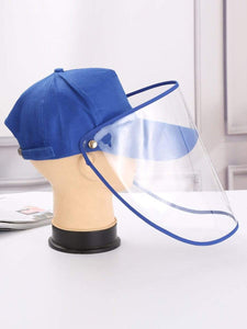 Color=Sky Blue | Anti--Saliva Spring And Summer Removable Sunshade Protective Hat-Sky Blue 1