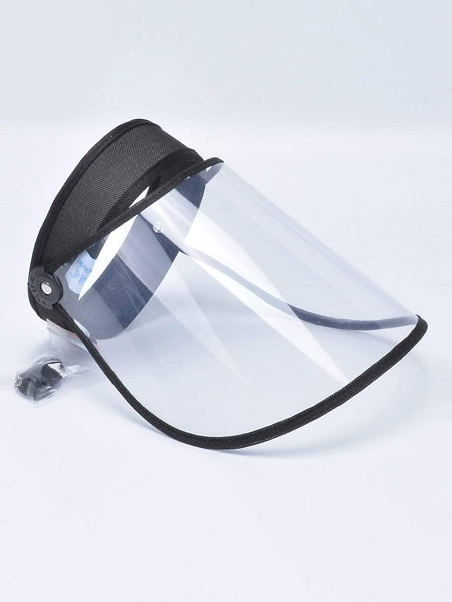 Color=Black | Protective Hd Transparent Adjustable Detachable Safety Face Shield-Black 1