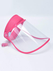Color=Coral | Protective Hd Transparent Adjustable Detachable Safety Face Shield-Coral 1