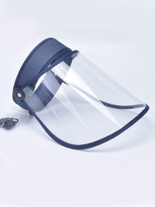 Color=Navy Blue | Protective Hd Transparent Adjustable Detachable Safety Face Shield-Navy Blue 1