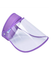 Load image into Gallery viewer, Color=Purple | Protective Hd Transparent Adjustable Detachable Safety Face Shield-Purple 1
