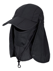 Color=Black | Detachable Breathable Quick-Drying Full-Face Protective Hat-Black 1