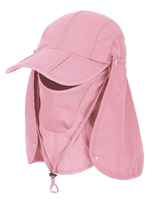 Color=Pink | Detachable Breathable Quick-Drying Full-Face Protective Hat-Pink 1