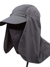 Load image into Gallery viewer, Color=Deep Grey | Uv-Prevention Outdoor Breathable Detachable Protective Hat-Deep Grey 1