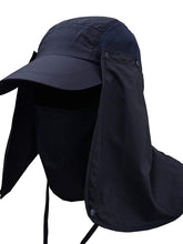 Load image into Gallery viewer, Color=Navy Blue | Uv-Prevention Outdoor Breathable Detachable Protective Hat-Navy Blue 1