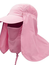 Load image into Gallery viewer, Color=Pink | Uv-Prevention Outdoor Breathable Detachable Protective Hat-Pink 1