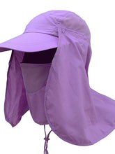 Load image into Gallery viewer, Color=Purple | Uv-Prevention Outdoor Breathable Detachable Protective Hat-Purple 1