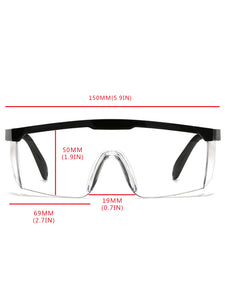 Anti-Splashing Anti-Fog Protective Glasses with Telescopic Frame