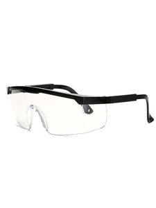 Color=Black | Anti-Splashing Anti-Fog Protective Glasses With Telescopic Frame-Black 3
