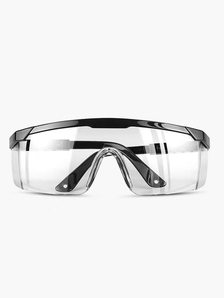 Color=Black | Anti-Splashing Anti-Fog Protective Glasses With Telescopic Frame-Black 1