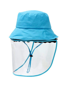 Color=Sky Blue | Anti Saliva Detachable Sunshade Face Isolation Protective Hat -Sky Blue 1