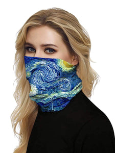 Color=Multicolor3 | Uv Neck Gaiter Face Scarf Breathable For Wind And Dust-Multicolor3 2