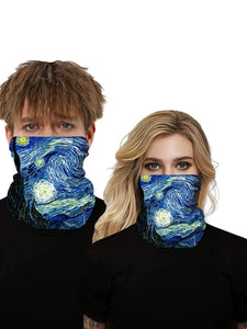 Color=Multicolor3 | Uv Neck Gaiter Face Scarf Breathable For Wind And Dust-Multicolor3 1