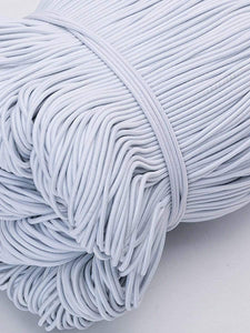 Color=White | High Stretchy Knit Elastic Band Diy Cloth Face Covering-White 2