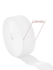Color=White | Wide Elastic Knit Band Diy Cloth Face Covering For Sewing-White 2