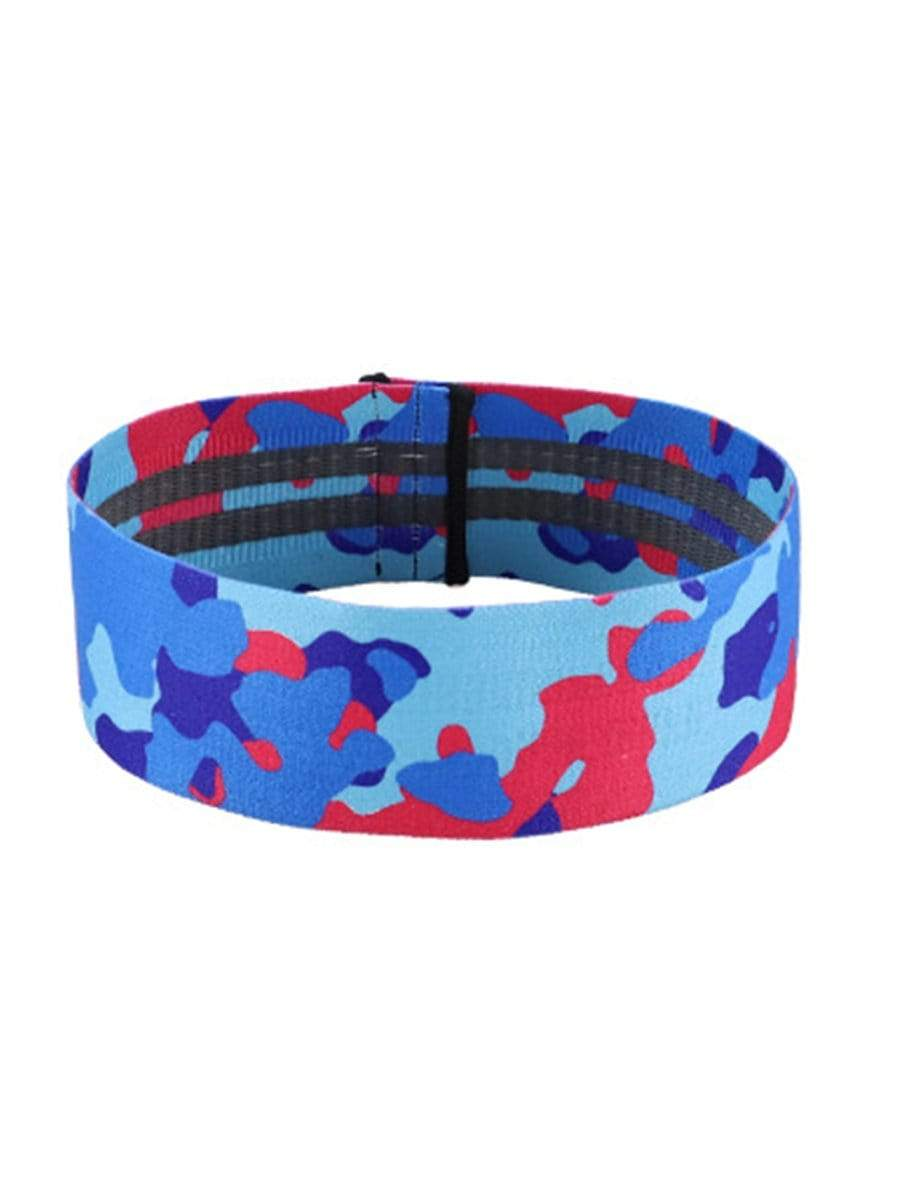 Color=Sky Blue | Colorful Printed At-Home Resistance Bands For Workout-Sky Blue 1