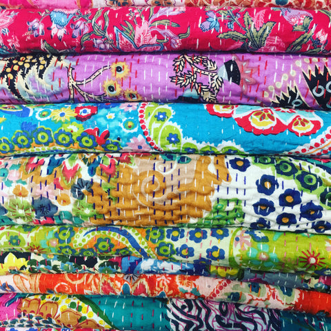 Kantha cotton Bedspread