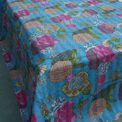 Kantha, Tropical Aqua blue