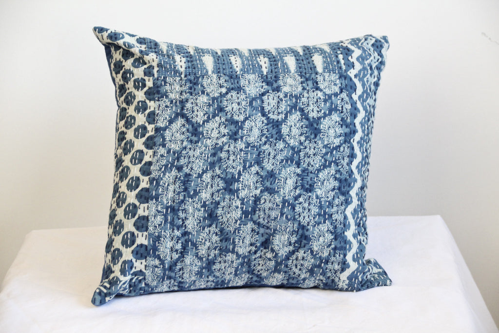 Indigo Patchwork Cushion covers