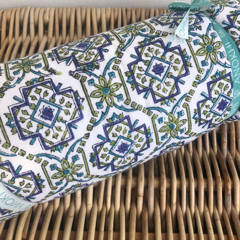 Anokhi cotton Quilt, Blue & Lime green