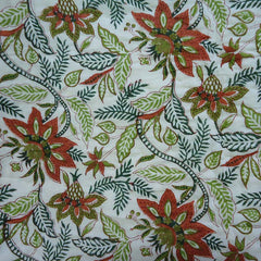 Anraj Green, block printed cotton Quilt