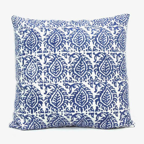 Blue Leaf Cushion covers