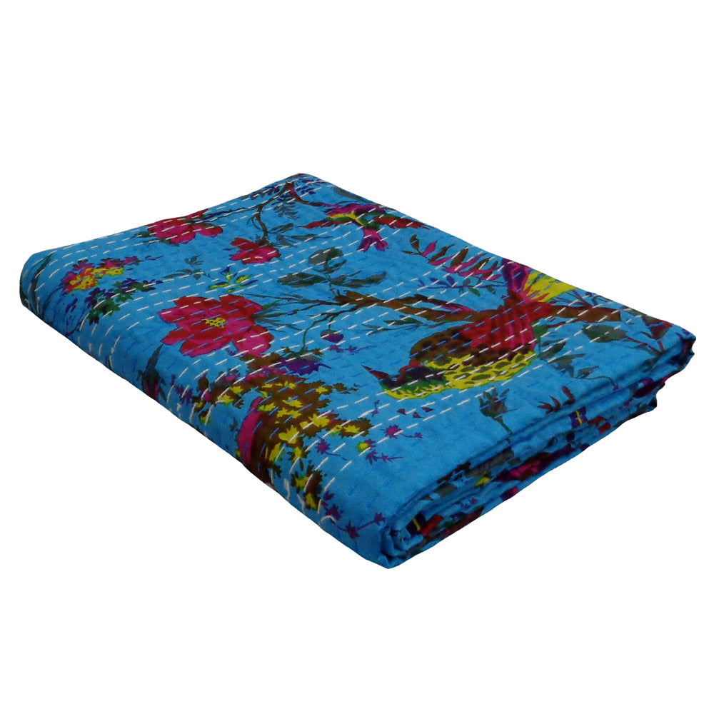 Kantha, Bright blue bird