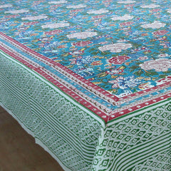 Floral Jade, Square Tablecloth