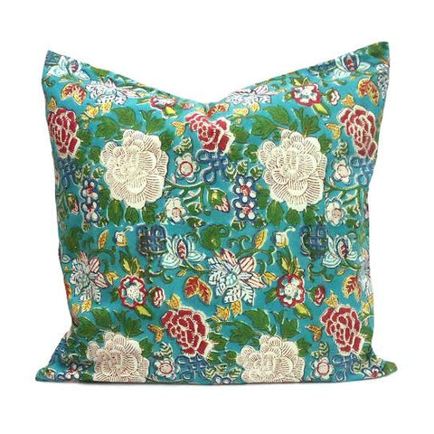 Floral Jade, Cushion covers