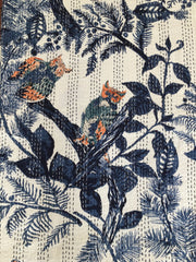 Kantha, Royal blue & white Owls
