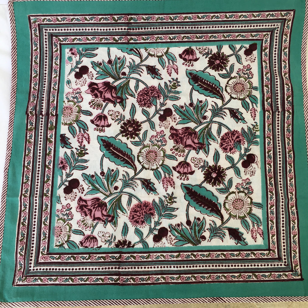 Anokhi cushion covers, Mint & Maroon florals