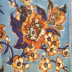 Anokhi cushion covers, Blue & Tan florals