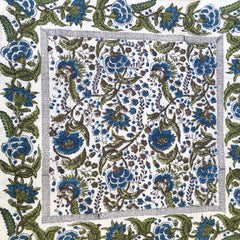 Anokhi cushion covers, Blue & olive green