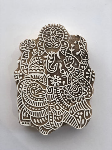 Carved printing block - Ele Goddess